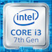 Badge intel core I3 inside (7th gen)