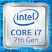 Badge intel core I7 inside (7th gen)