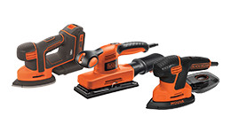 Black & Decker schuurmachines