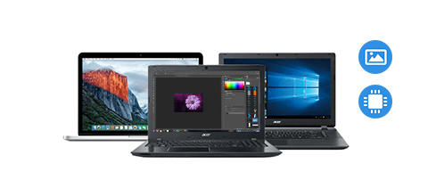 laptop processor fotobewerking