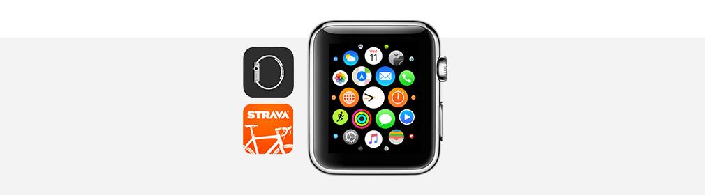 Fietsen apple watch