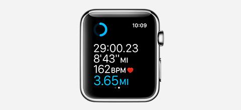 Apple watch fietsen