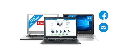 laptop processor internetten, mailen en tekstverwerken