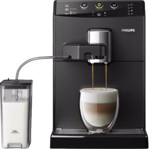 Espressomachine met melkslang
