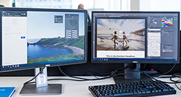 Working with 2 screens