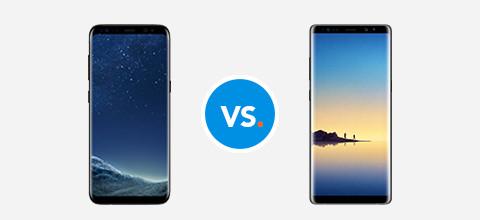 Vergelijk de Samsung Galaxy Note 8
