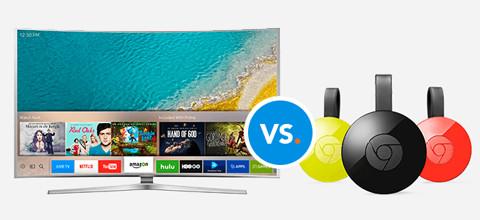 Dit zijn de verschillen tussen smart tv en Chromecast
