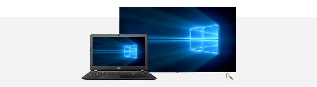 Header laptop tv