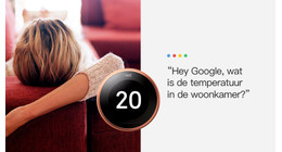 Google Assistent en Nest thermostaat