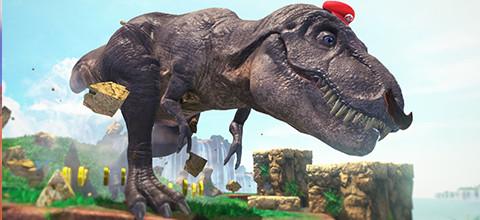 Super Mario Odyssey T-rex gameplay