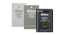 Nikon accu's voor camera's