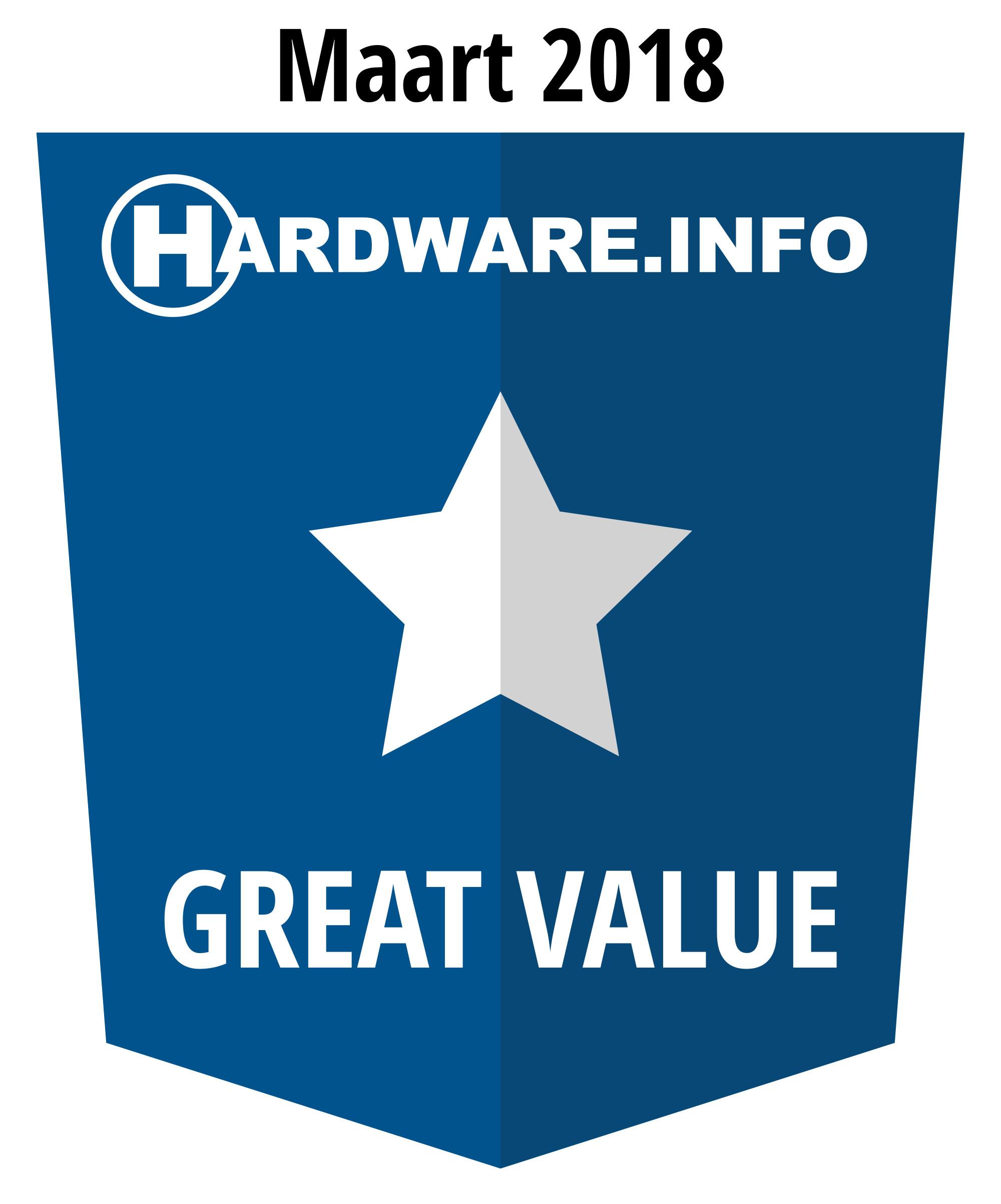 Hardware.info Value award 03-2018