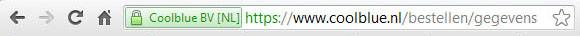 Beispiel einer sicheren Verbindung in einem Browser