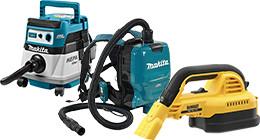 Cordless construction vacuums