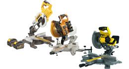 Cordless radial arm saws