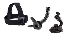 Action camera mounts