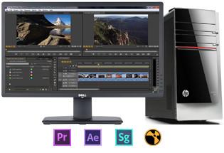 Videobewerking-desktops