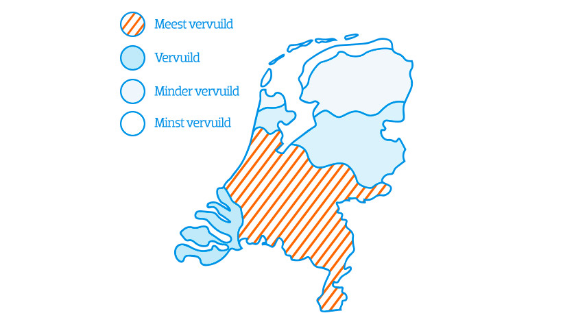 Vervuilde lucht in Nederland
