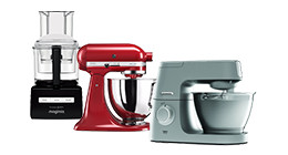 Stand mixers and food processors
