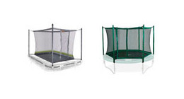Berg safety nets for trampolines