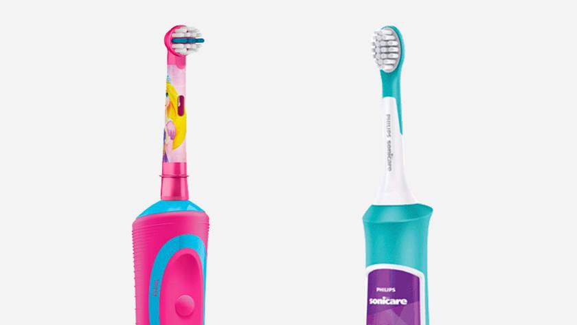 Oral-B Stages en Philips Sonicare for Kids opzetborstels