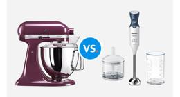 Wat is het verschil tussen een keukenmixer en een staafmixer?