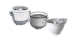 Ice cream maker attachments for stand mixers