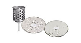 Grater attachments for stand mixers