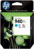 HP 940 Cyan XL Ink Cartridge (blue) C4907AE