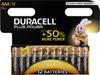 Duracell Plus Power alkaline AAA batteries 12 pieces