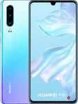 Huawei P30 in wit/paars