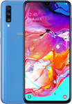 Samsung Galaxy A70 in blauw