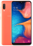 Samsung Galaxy A20e in oranje