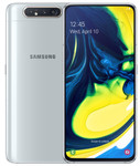 Samsung Galaxy A80 in zilver