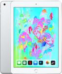 iPad (2018) in zilver (witte voorkant)