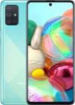 Samsung Galaxy A71 in bleu