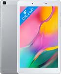 Samsung Galaxy Tab A 8.0 (2019) in zilver (witte voorkant)