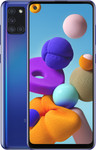 Samsung Galaxy A21S in blauw