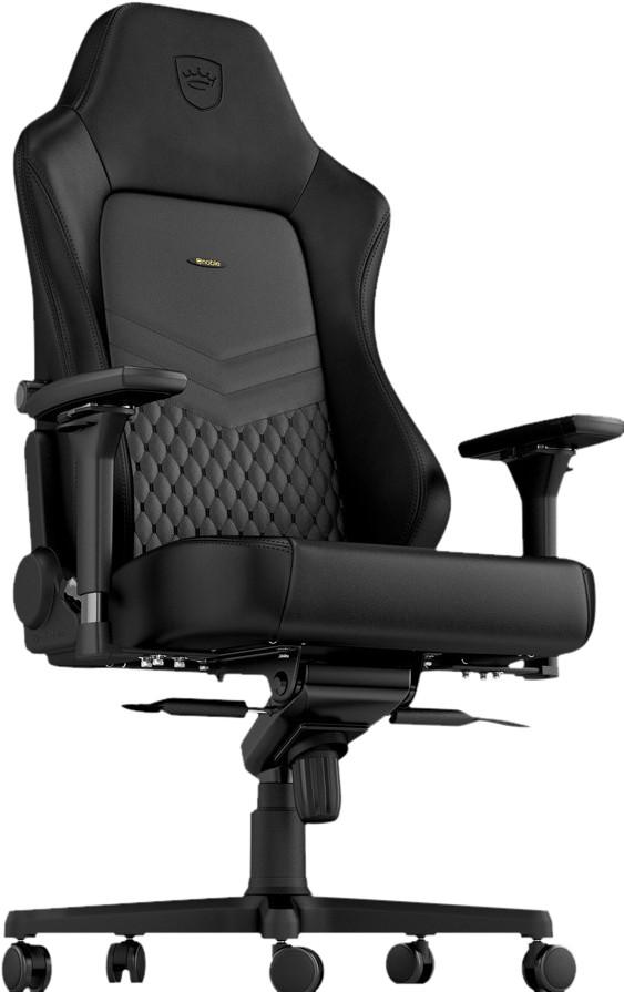 noblechairs HERO Echt lederen Gaming stoel Zwart Main Image
