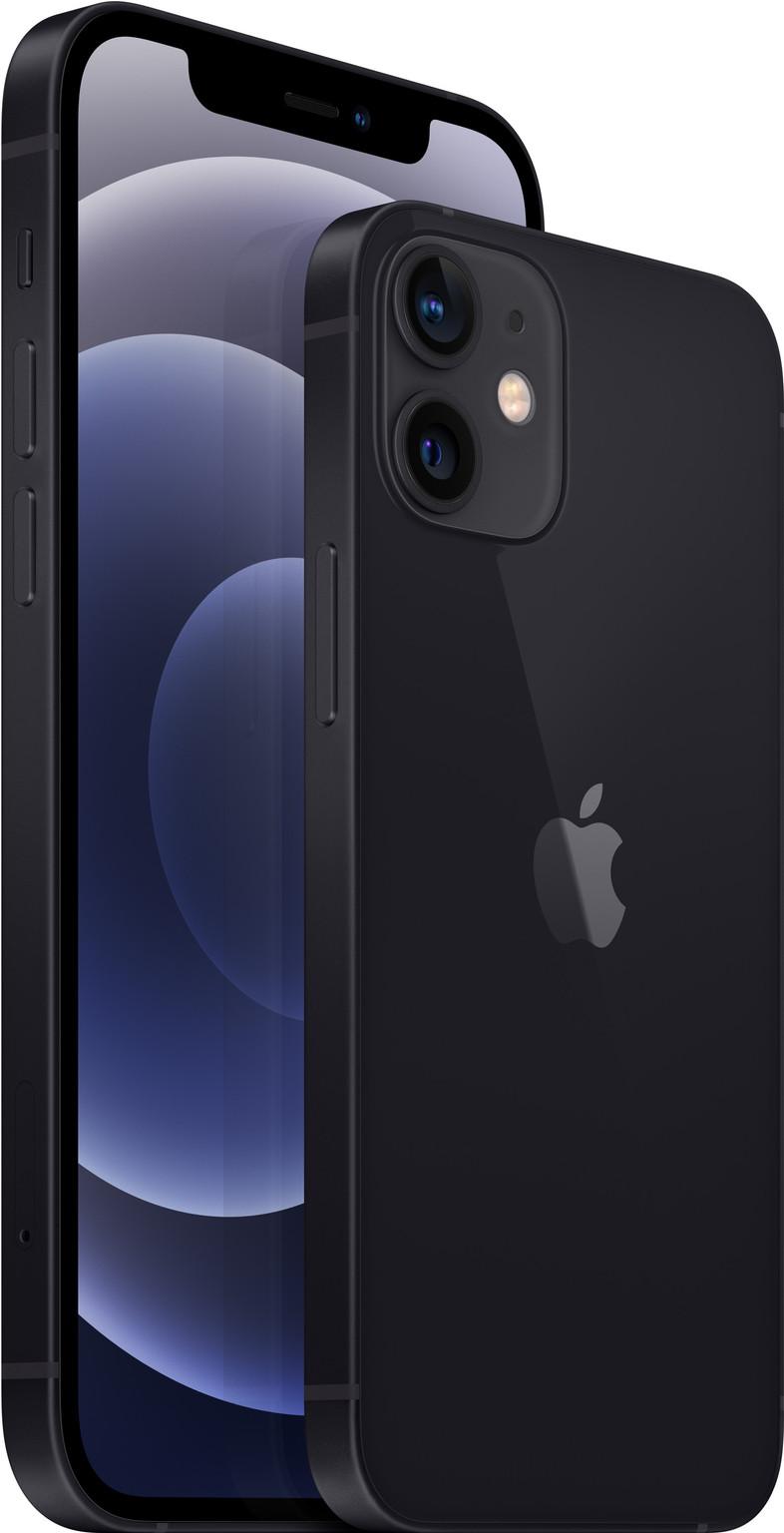 Apple iPhone 12 128GB Zwart + Apple Usb C Oplader 20W achterkant