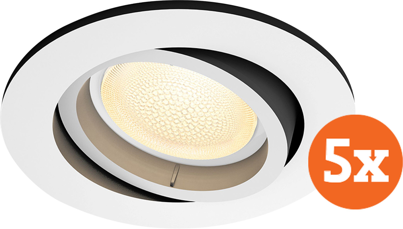 Philips Hue Centura Recessed Spot Light White & Color round white 5-pack