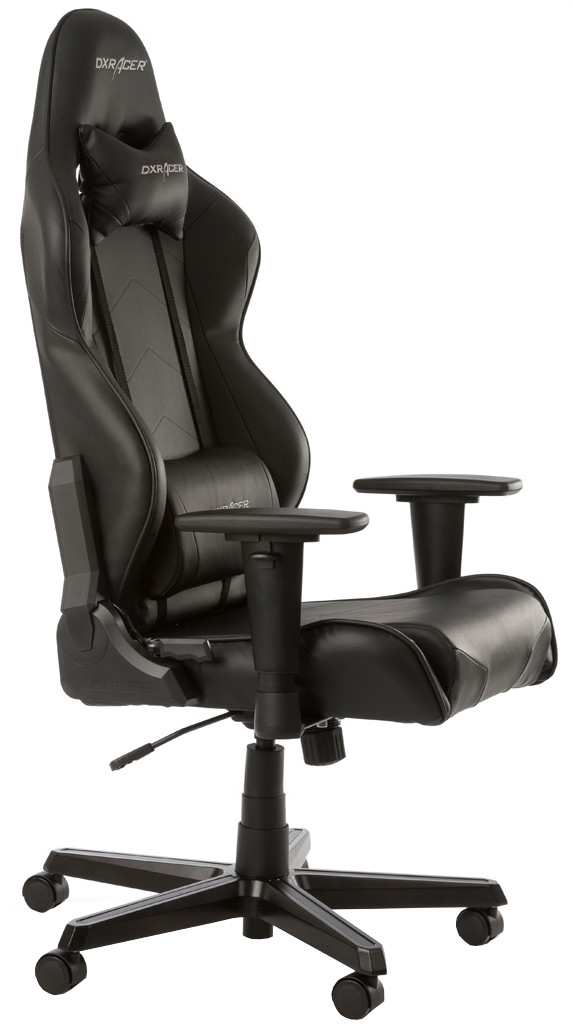 DXRacer RACING Gaming Chair Zwart voorkant