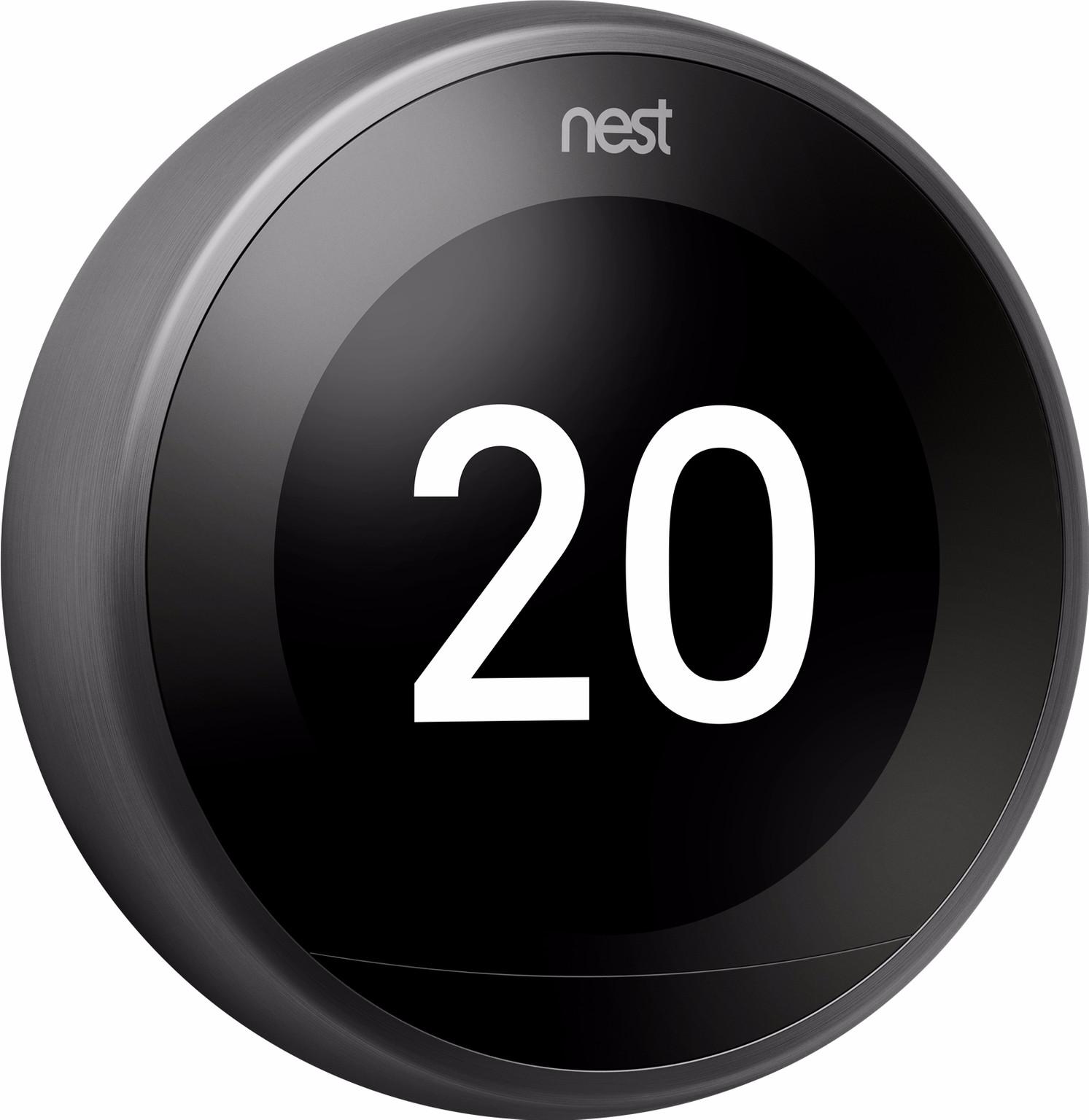 Nest Learning Thermostat V3 Zwart