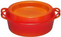 Le Creuset Ovale Doufeu Braadpan 32 cm Oranje-rood