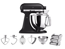 KitchenAid Artisan Mixer 5KSM175PS Vulkaanzwart + Pastarollerset