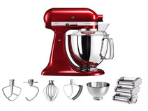 KitchenAid Artisan 5KSM175PS Appelrood + Pastarollerset