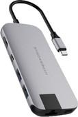 Hyper Slim USB-C 8-In-1 Docking Station Space Gray