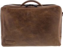 """Plover 2-Pack Laptop Bag 15.6 """"Full Grain Cow Leather Taupe"""