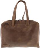 "Plover 1-Ladies Ladies Shoulder Bag 15.6 ""Full Grain Cow Leather Taupe"