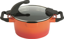 Berghoff Virgo saucepan with lid 28 cm orange